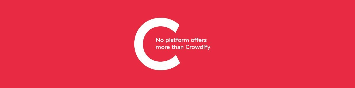 No platform offers more than Crowdify