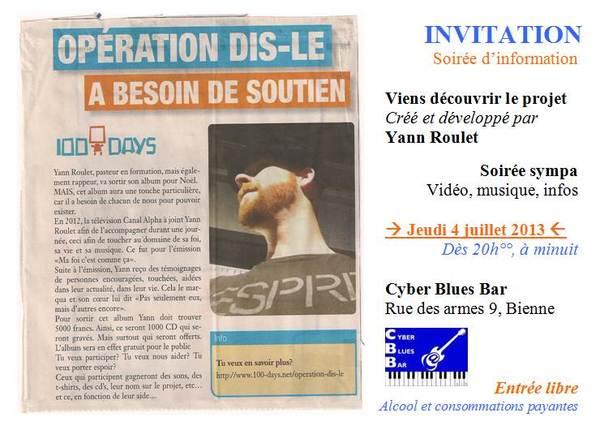 1 EVENT D'INFO & MUSIQUE - 04.07.13, BIENNE