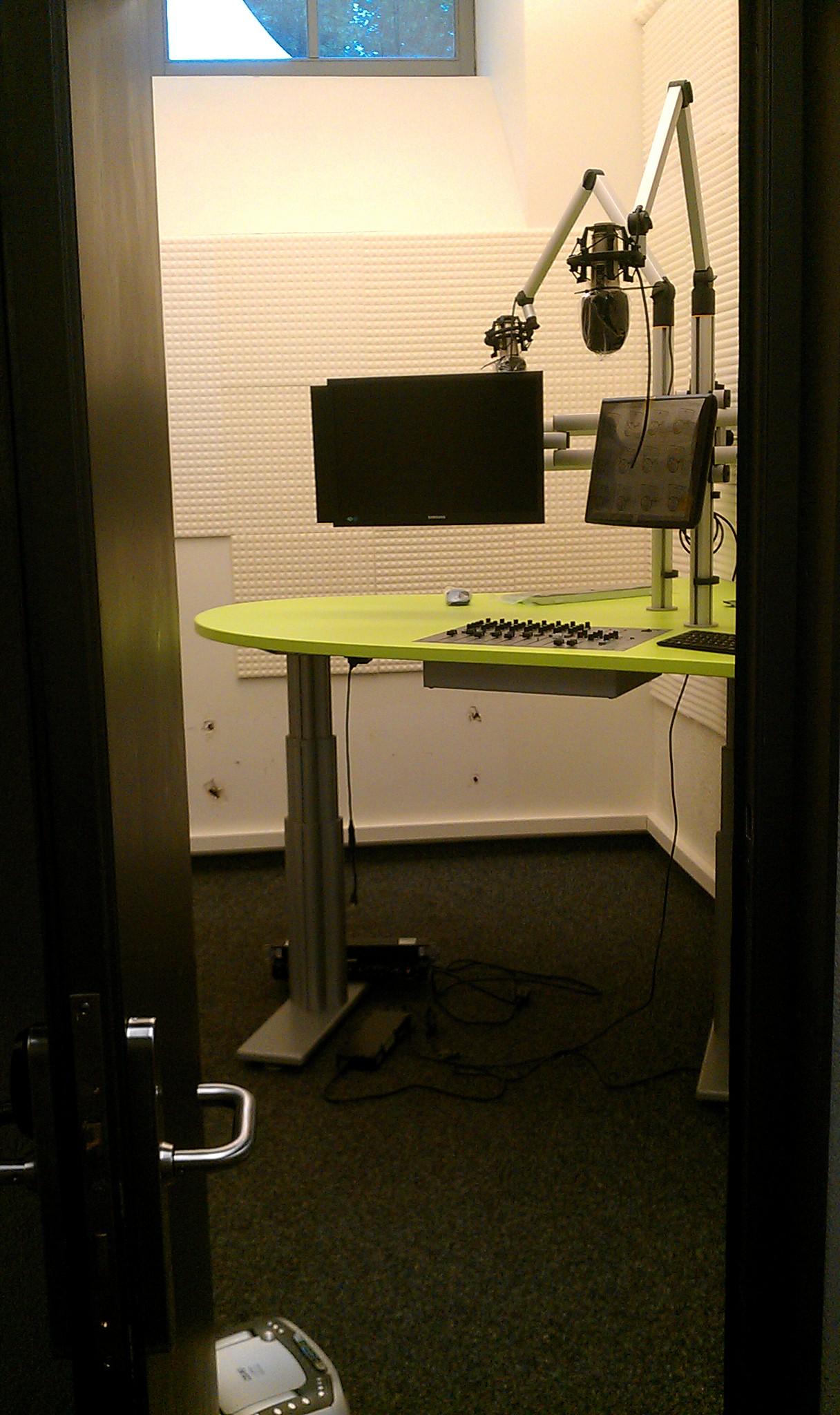 Ein erster Blick ins neue Studio