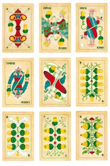 Verspielte Jasskarten