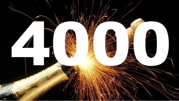 We are above four thousand!!
