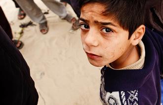 Kinder nähe Gaza-Streifen
