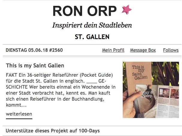 Heute im Ron Orp Newsletter