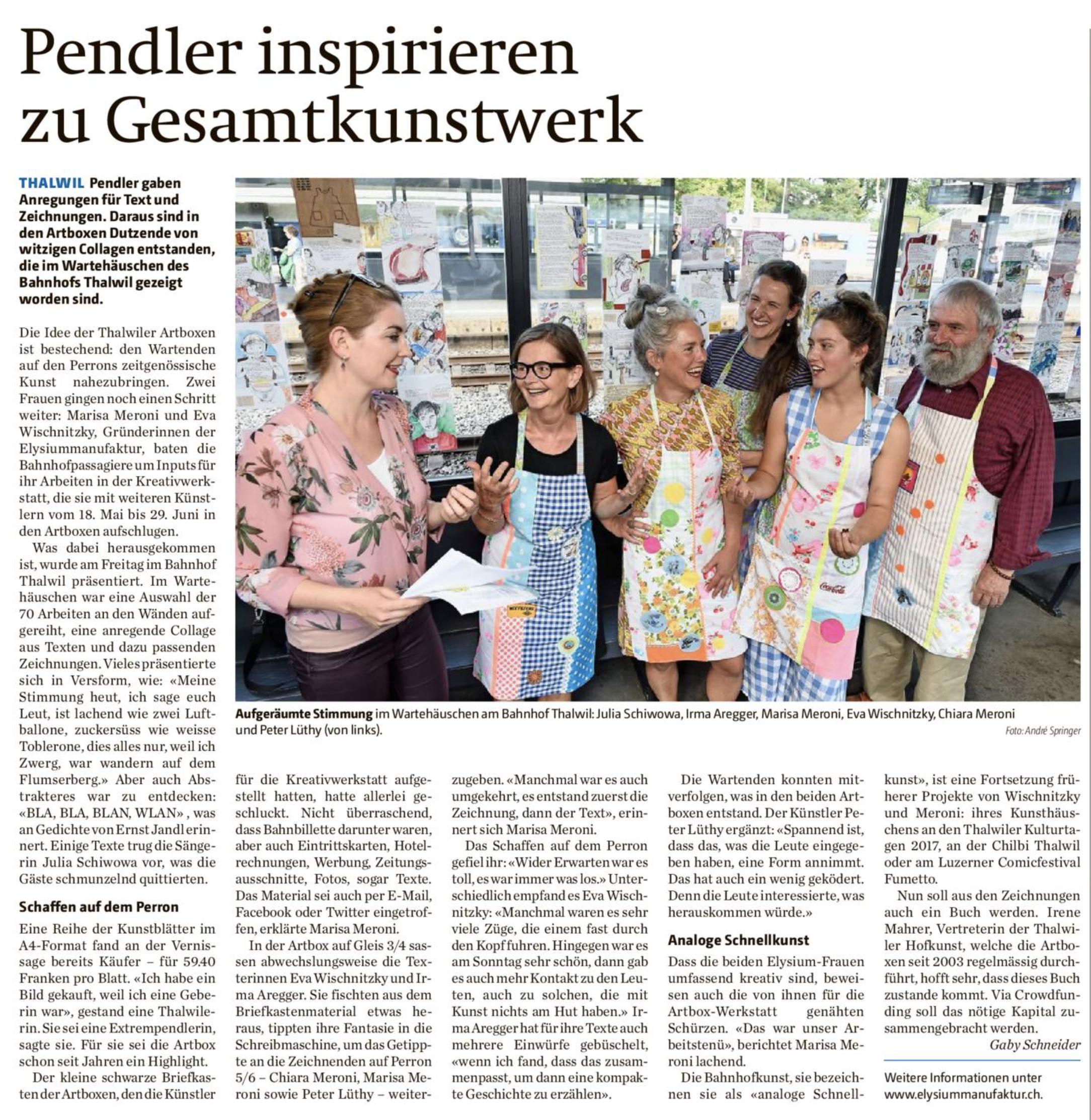 heute in der Zürisee-Zeitung !