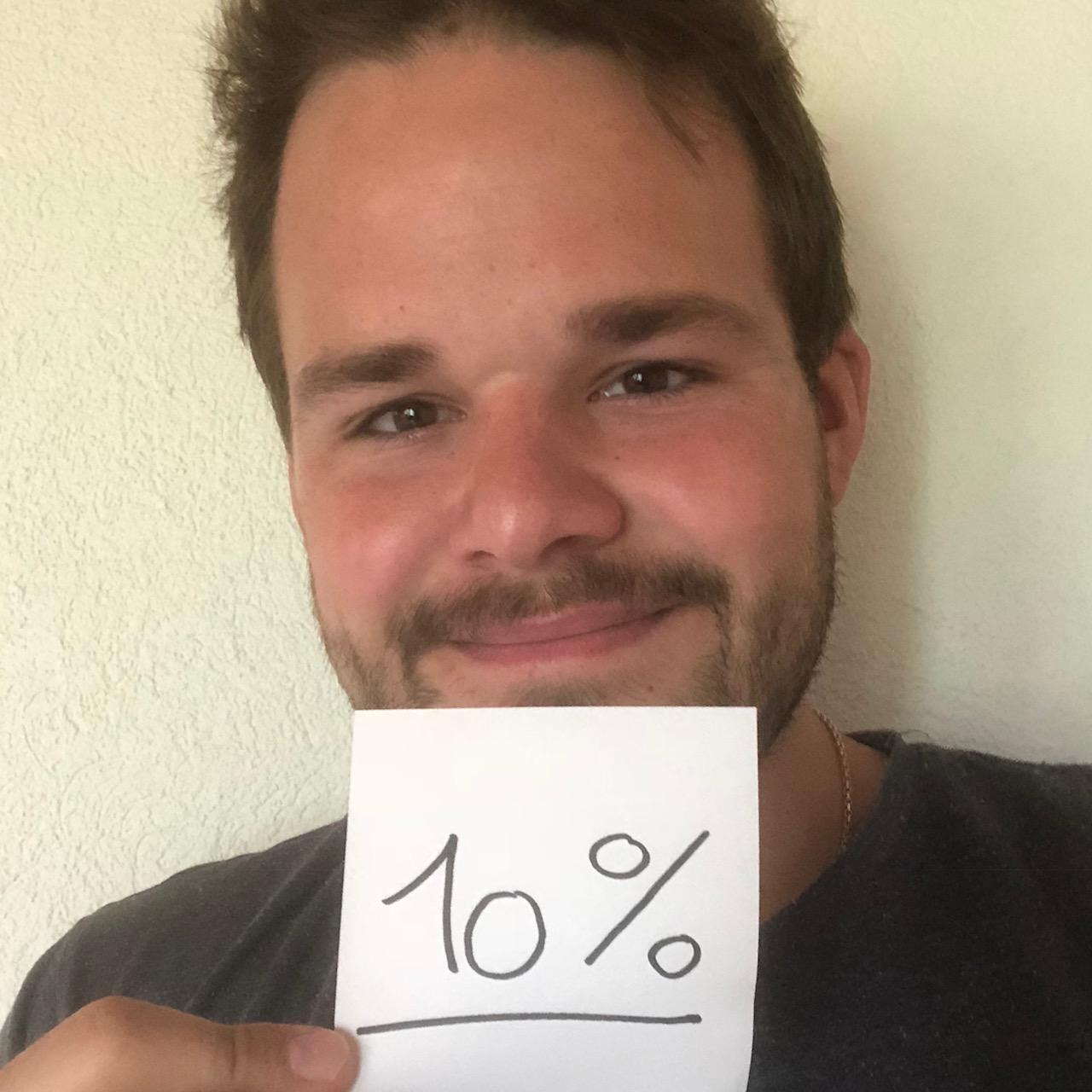 10% sind erreicht!