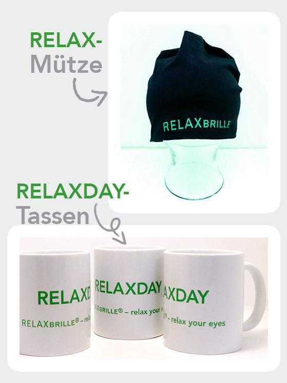 New Goodies! RELAX-Mütze und RELAXDAY-Tasse