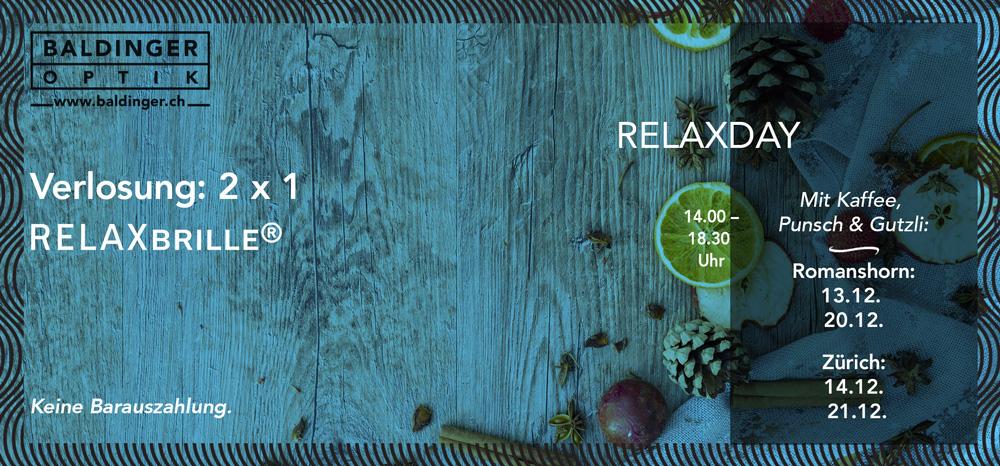 GEWINNSPIEL + RELAXDAY mit Kaffee, Punsch und Guetzli