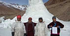 ZANSKAR ICE STUPAS last till 1st of July.