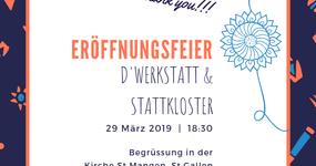 Einladung zur Eröffnungsfeier