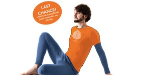 +100 orange Kick-COVID T-Shirts
