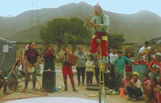 Strassenkünstler in Peru
